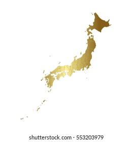 Japan gold map