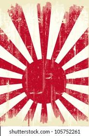 Japan grunge flag. An old japan grunge flag for you