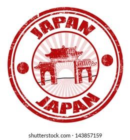 Japan grunge rubber stamp, vector illustration