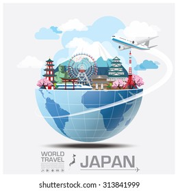 Japan Landmark Global Travel And Journey Infographic Vector Design Template