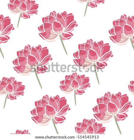 japan floral design  Japan Lotus Seamless Vector Pattern Floral Stock Vector (Royalty ...