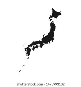 Japan map. Blank Japanese map. Vector illustration.