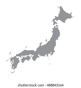 Japan map gray