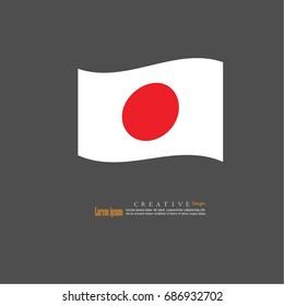 Japan national flag background texture.vector illustration.
