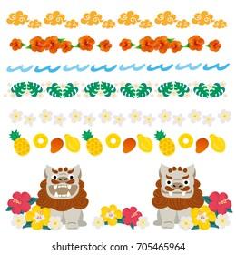 Japan Okinawa Illustration