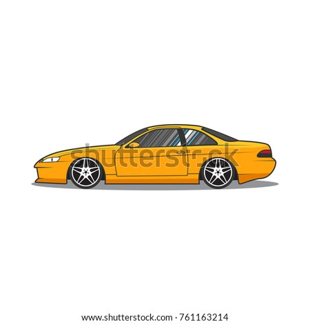 Japan Sport Car Car Sketch Side Stock Vector Royalty Free