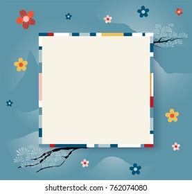 5ae2a81d90b japan traditional frame design. strip color design frame. vector  illustration.