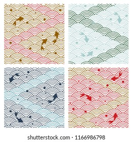 Japanese background vector. Gold geometric traditional pattern. cover page, template, poster.