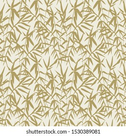 Japanese Bamboo Seamless Pattern with Beige Bamboo Plant. Abstract nature background.