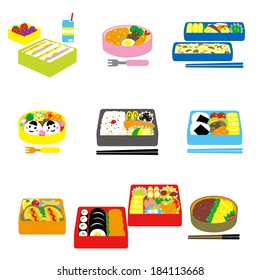 Japanese BENTO, box lunch, bento box