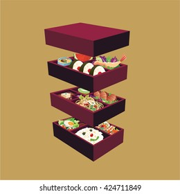 Japanese bento boxes set