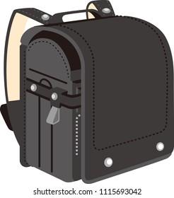 Japanese Black School Bag for Elementary School Men