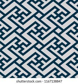 Japanese blue maze line pattern