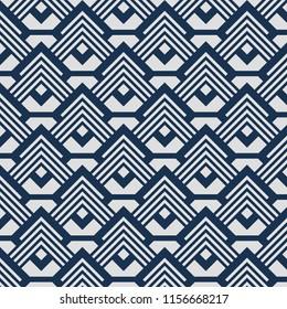 Japanese blue white geometric pattern