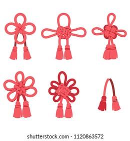 Japanese braid (red)
