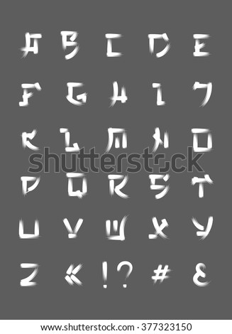 Asian style letters