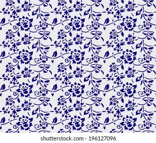 Japanese / Chinese seamless background, floral pattern, vector