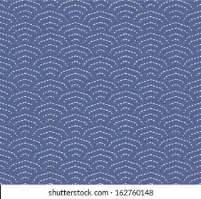 Japanese / Chinese wave pattern, decagon seamless hipster background. Geometric composition,vector