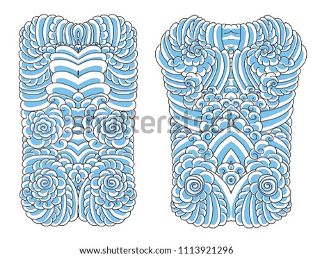 Japanese Cloud Background Tattoo Stock Vector Royalty Free
