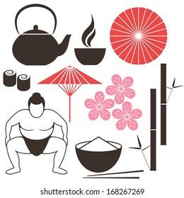 Japanese culture. Vector illustration
