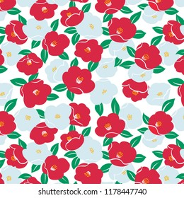 Japanese cute camelia pattern