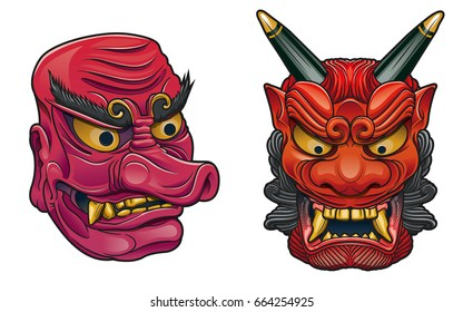 japanese deamon masks