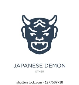 japanese demon icon vector on white background, japanese demon trendy filled icons from Other collection, japanese demon vector illustration