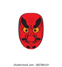 Japanese demon mask