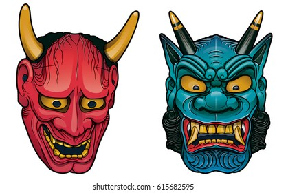 japanese demon masks