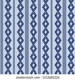 Japanese Diamond Sqaure Chain Seamless Pattern
