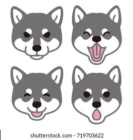 Japanese dog look Face