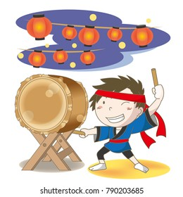 "Japanese drum ""Wadaiko""festival image"