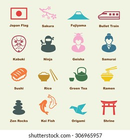 japanese elements vector infographic icons 260nw