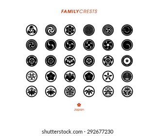 Japanese Family Crests Set