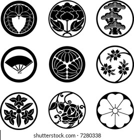 Japanese Family Crests (vector) #02