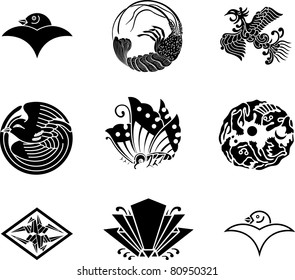 Japanese Family Crests (vector) 17