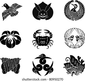 Japanese Family Crests (vector) 18