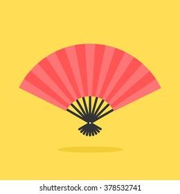 Japanese fan. Modern flat style. Vector icon