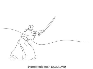 Japanese fencing master(kendo)