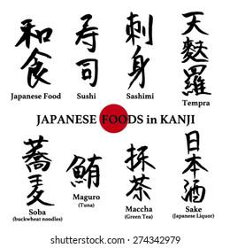JAPANESE FOOD in KANJI