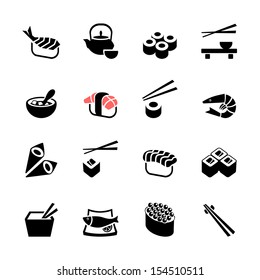 Japanese food Sushi Collection. Web icon set