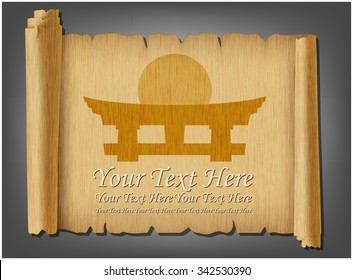 Japanese Scroll Images, Stock Photos & Vectors | Shutterstock