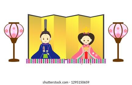 Japanese girl's spring festival decorations