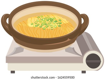 Japanese hot pot and Chinese noodles. / Japanese food