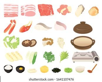 Japanese hot pot set / Japanese food