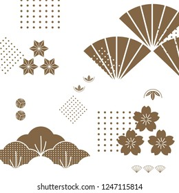 gold cherry blossom pattern vector images stock photos vectors