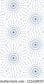 Japanese inspired pattern. seamless vector pattern. Circles on white background