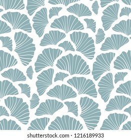 Japanese inspired pattern. seamless vector pattern. Ginkgo leaves on white background