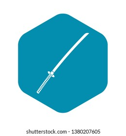 Japanese katana icon. Simple illustration of japanese katana vector icon for web