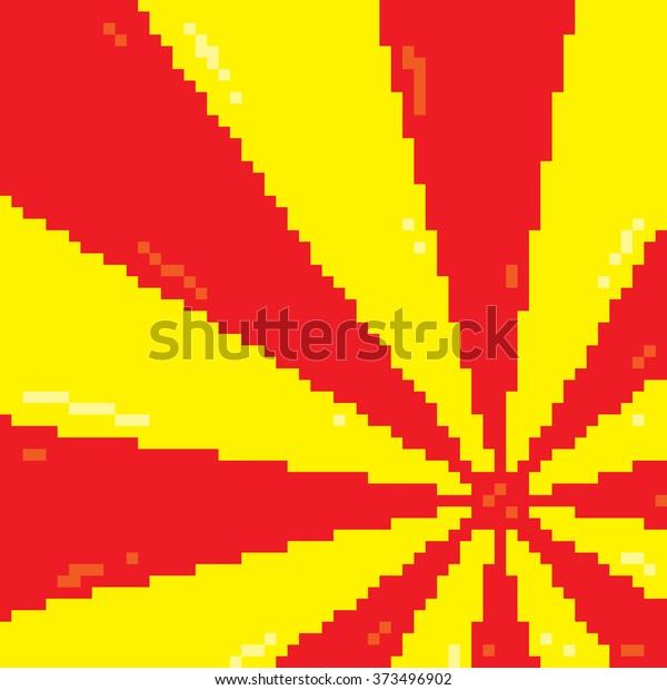 Image Vectorielle De Stock De Kawaii Japonais Arriere Plan Vectoriel Style Pixel 373496902